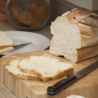 Enjoy fresh bread from the farm shop nearby